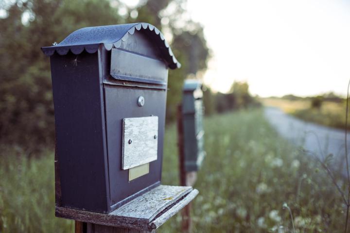 black mail box
