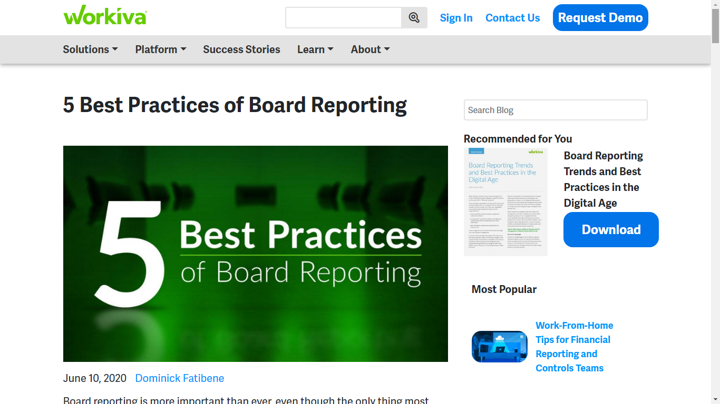 board metrics