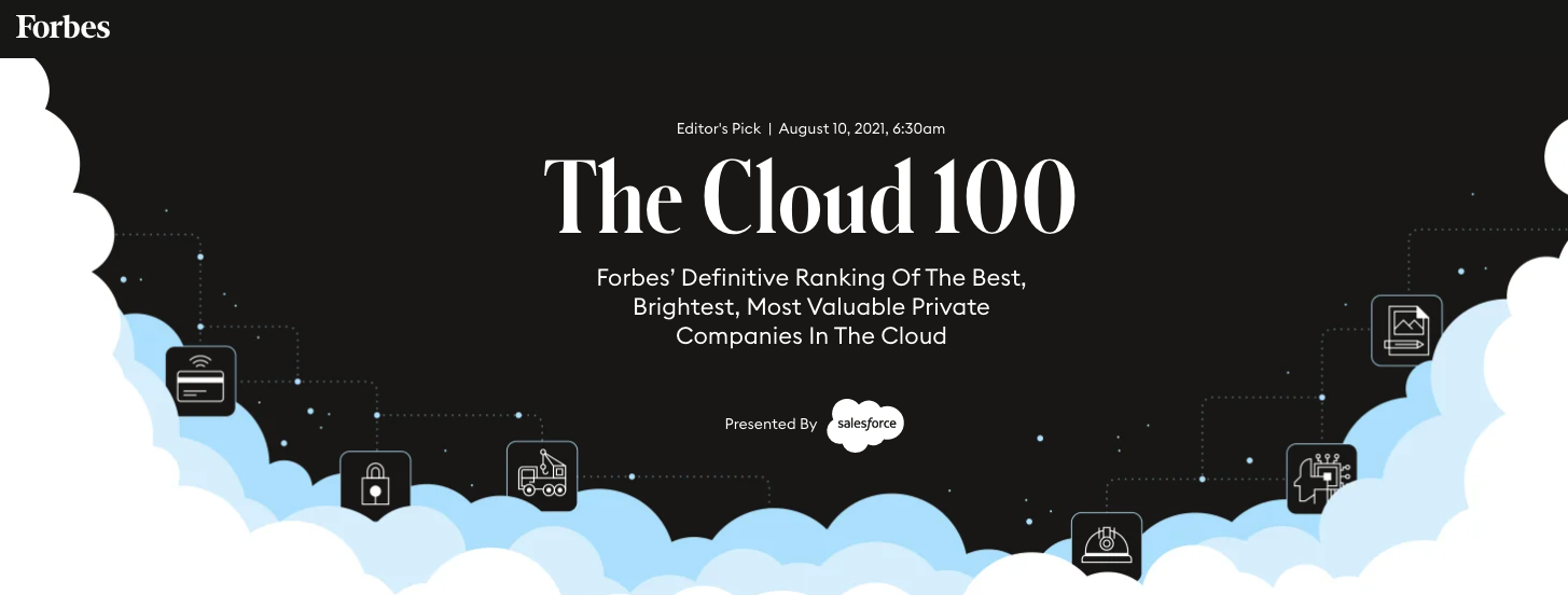 Forbes Cloud 100 Rising Stars 2021