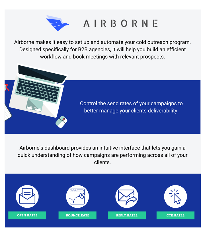 Airborne is a platform that's great for cold email outreach