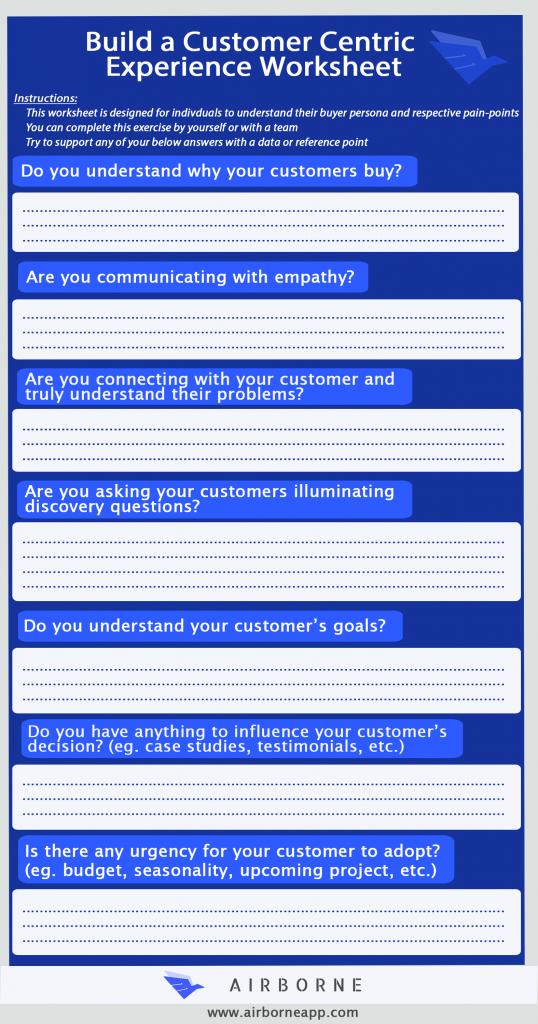 Customer experience worksheet
