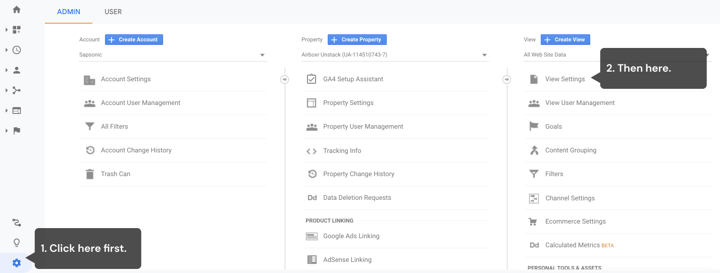 Finding your Google Analytics View ID