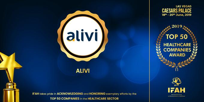 "Alivi Presented with the ""Top 50 Tech Companies"" Award"