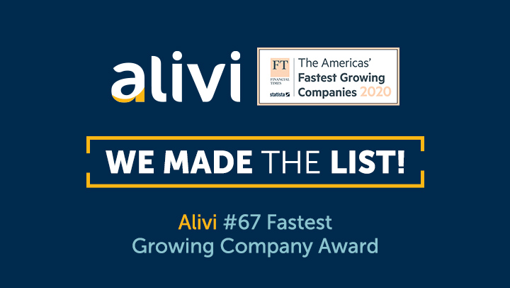 Alivi Financial Times Fastest Growing Companies