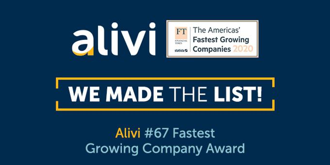 Alivi, South Florida Company, Ranks No. 67 on the Financial Times