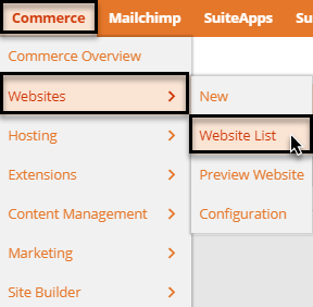 SuiteCommerce website setup