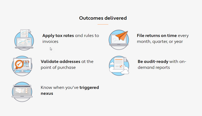 Outcomes delivered by Avalara
