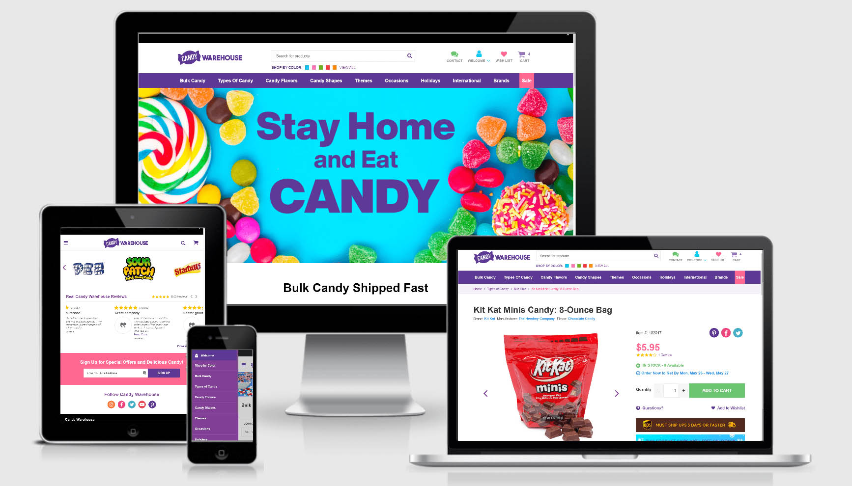 Candy Warehouse best erp software for SuiteCommerce