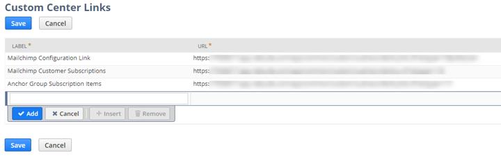 NetSuite Center Links