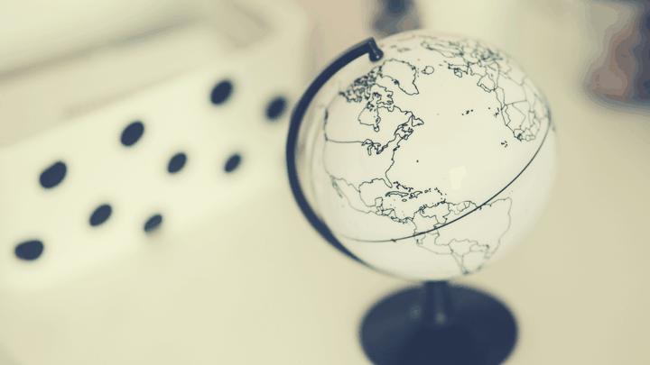 Picture of mini 3D globe