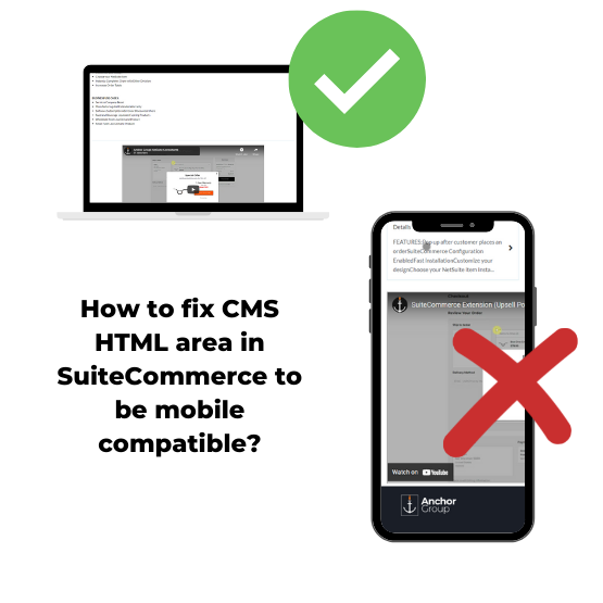 NetSuite CMS mobile media tag