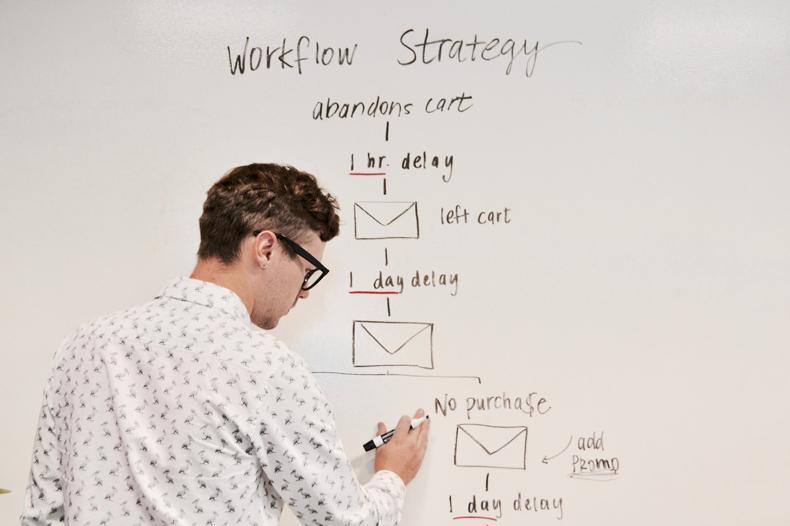 NetSuite for Advertizing & Digital Marketing Agencies man writing on whiteboard