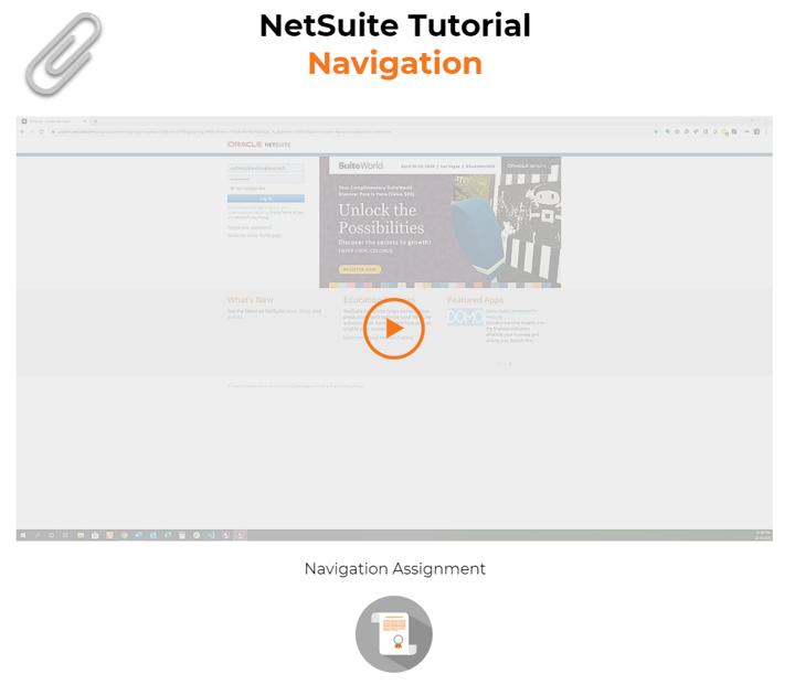 NetSuite Navigation Tutorial