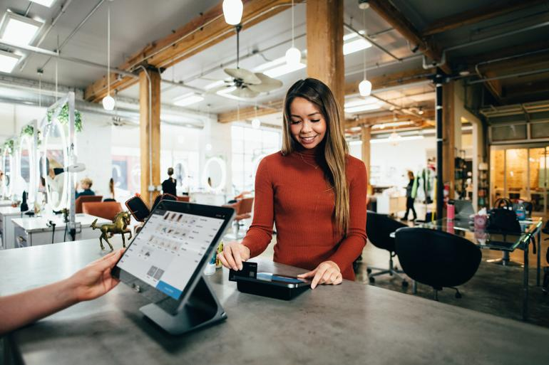 NetSuite for Retail turned-on monitor