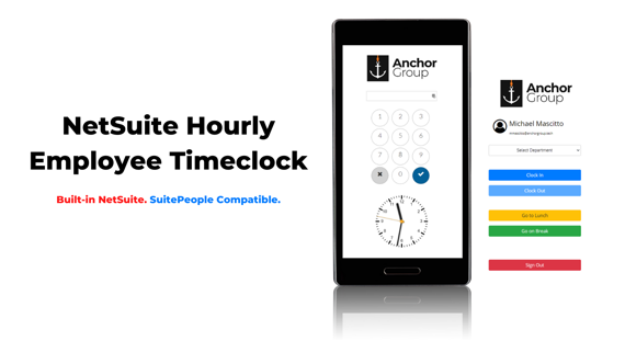 NetSuite SuitePeople Timeclock