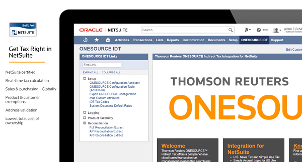 Get tax right in NetSuite with ONESOURCE