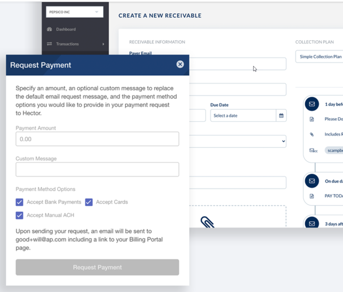 Paystand request payment screenshot