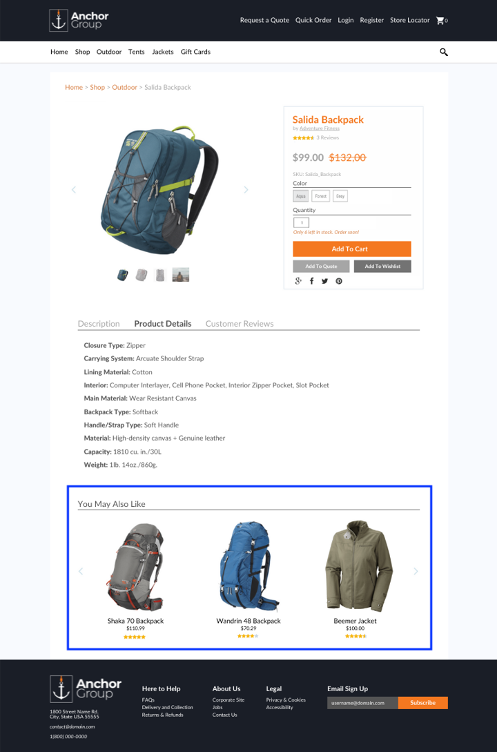 product recomendations SuiteCommerce PDP