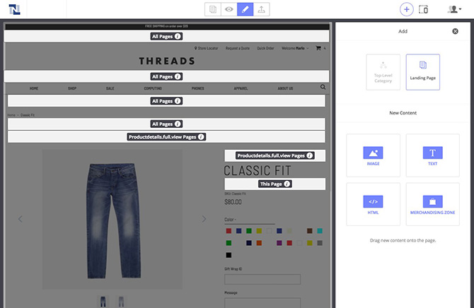 highlighted checkout page example