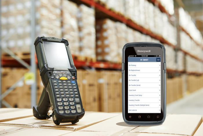 rf smart on mobile phone in warehouse