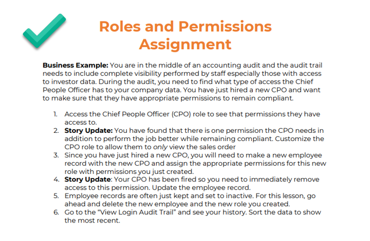Roles and Permissions for NetSuite