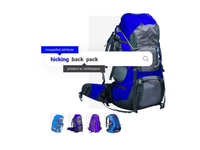Searchspring search for hiking backpack