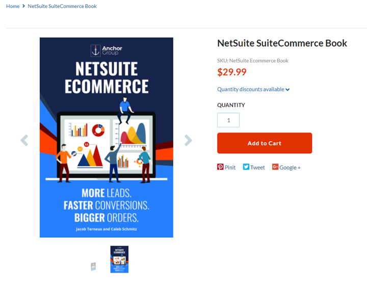 Suitecommerce advanced book showing
