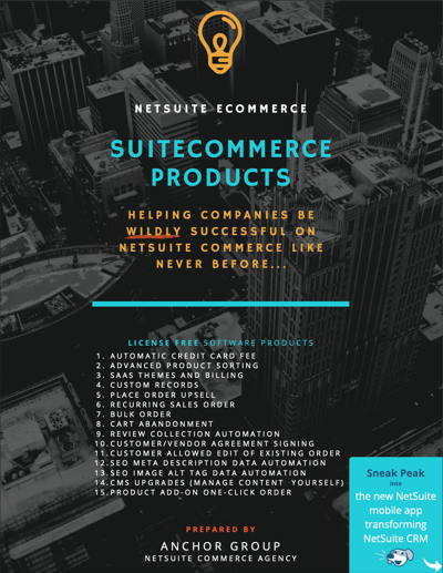 SuiteCommerce Product Guide