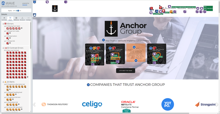 Wave Anchor Group ADA compliance