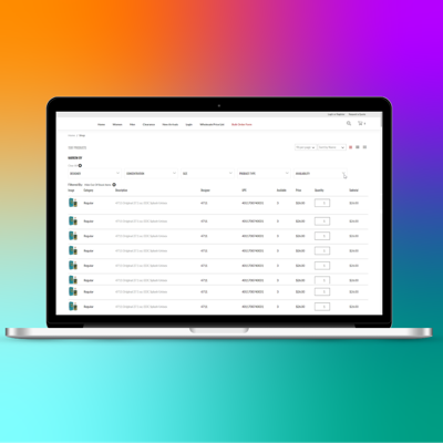 NetSuite Wholesale Bulk Order Form