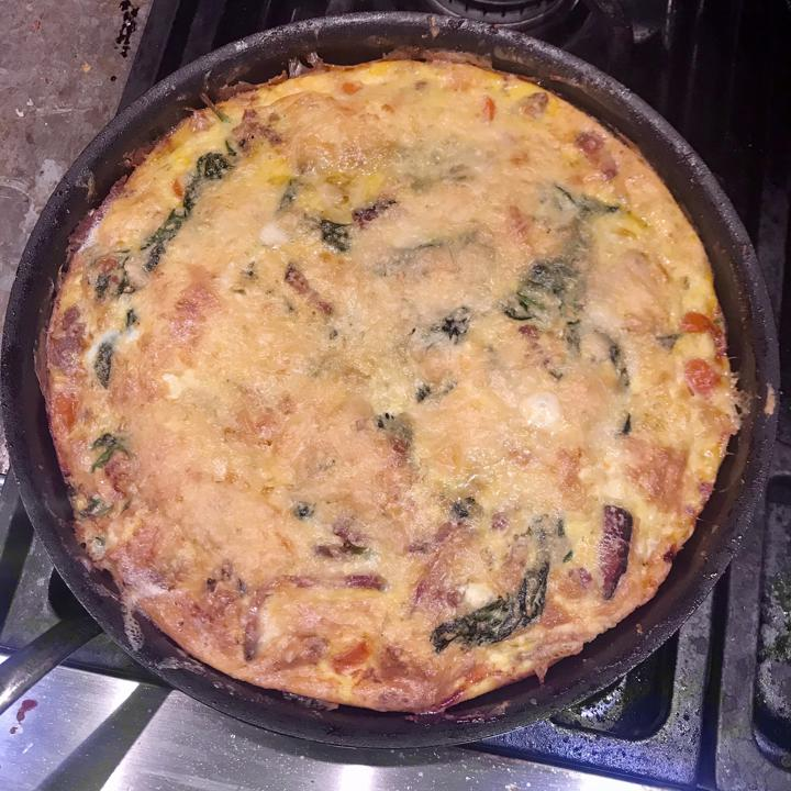 frittata whole in pan