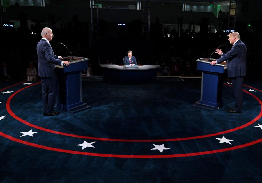 Acrimony flows in first US presidential debate