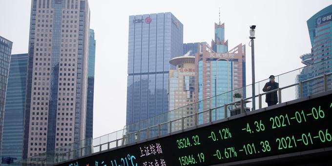 Asian markets ride the blue wave