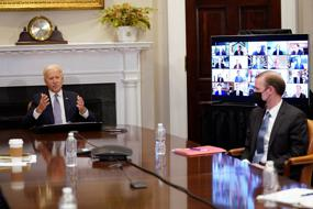 Biden vows action on semiconductor shortage, citing China threat