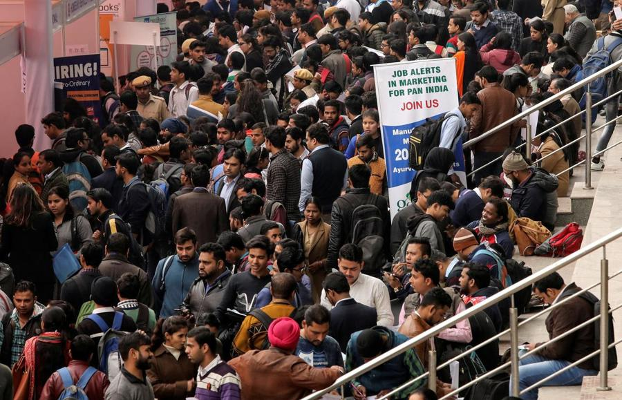 India's jobless millions jostle for scraps on hiring sites