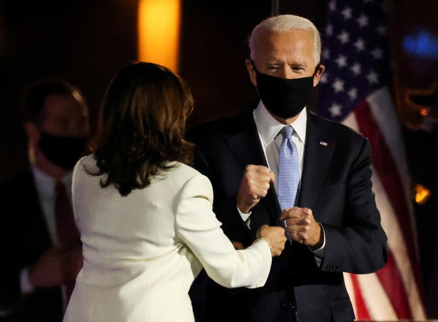 Investors celebrate Biden victory