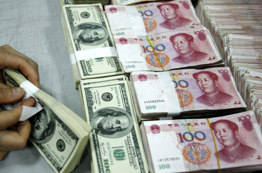 US virus surge, dollar slump, yuan gain
