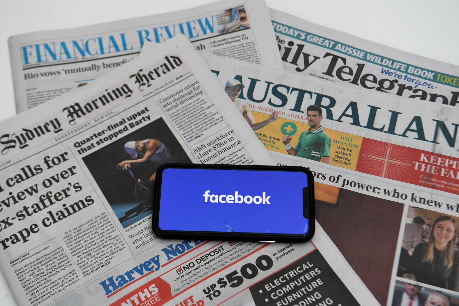 Facebook switches news back on for Australians after content deal