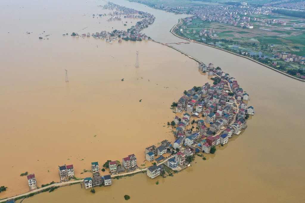 Flooding in China may set historic global high