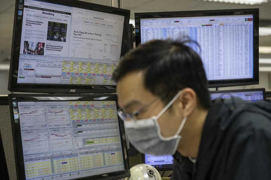Markets subdued on outbreak worries, China outperforms