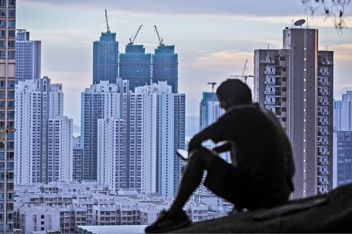 Hong Kong skyline seen from Shek Kip Mei. AFP