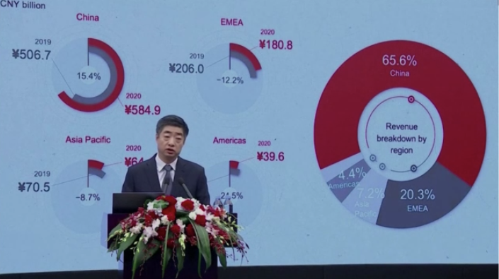 Huawei records modest 2020 growth as US sanctions take a toll