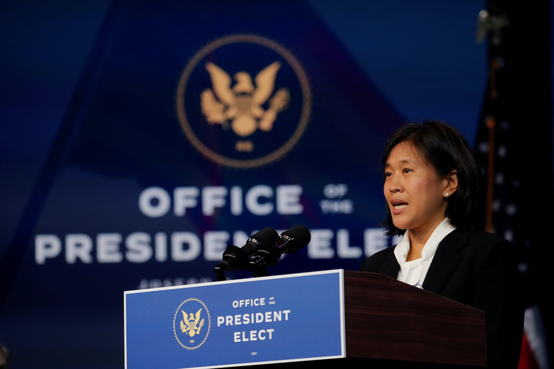 US trade chief backs vaccine patent waivers, may meet Liu He