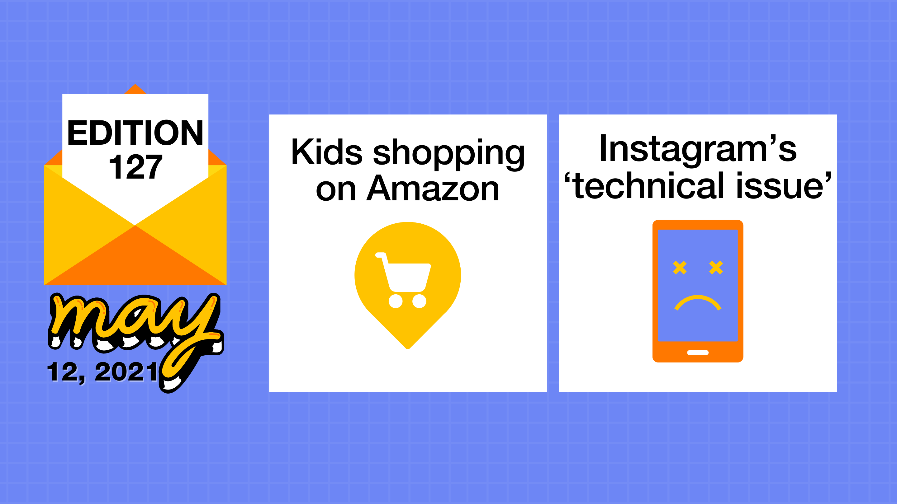 Kids shopping on Amazon and Instagram's 'technical issue'