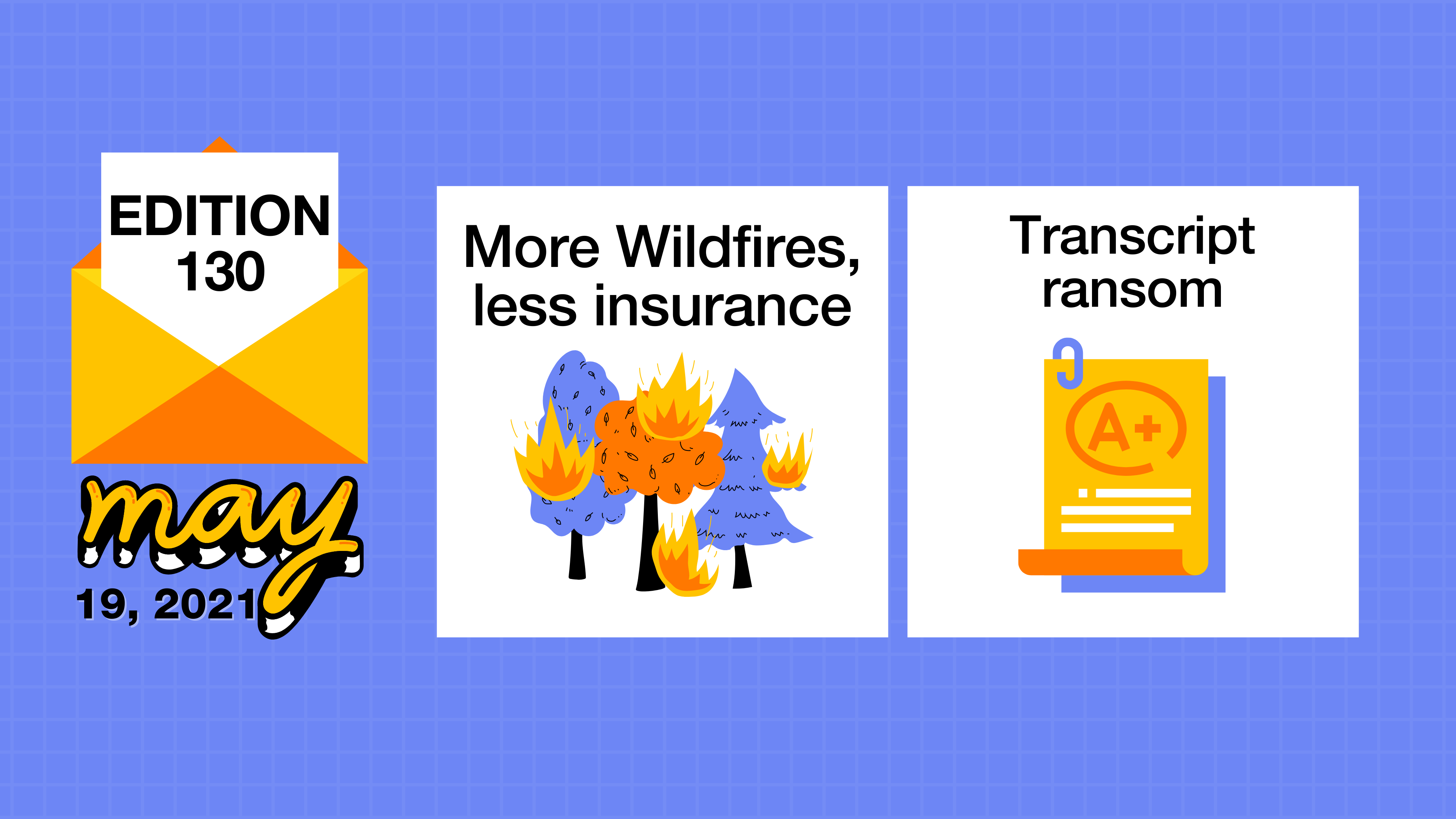 Wildfire insurance options and withheld undergraduate transcripts