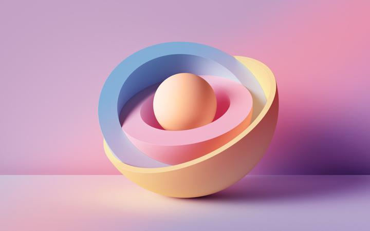 Round ball with colours
