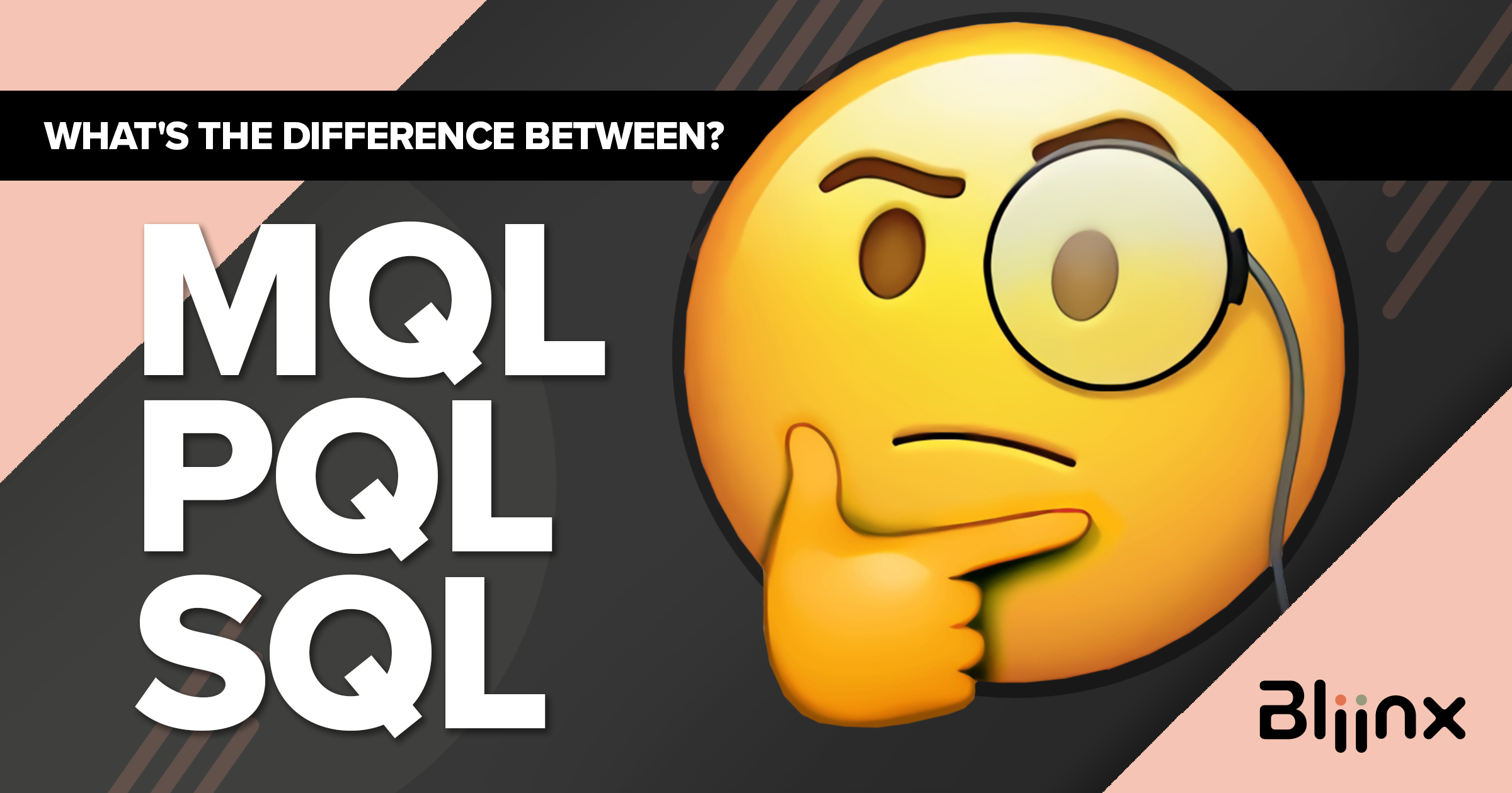 What's the difference between MQL, PQL and SQL?
