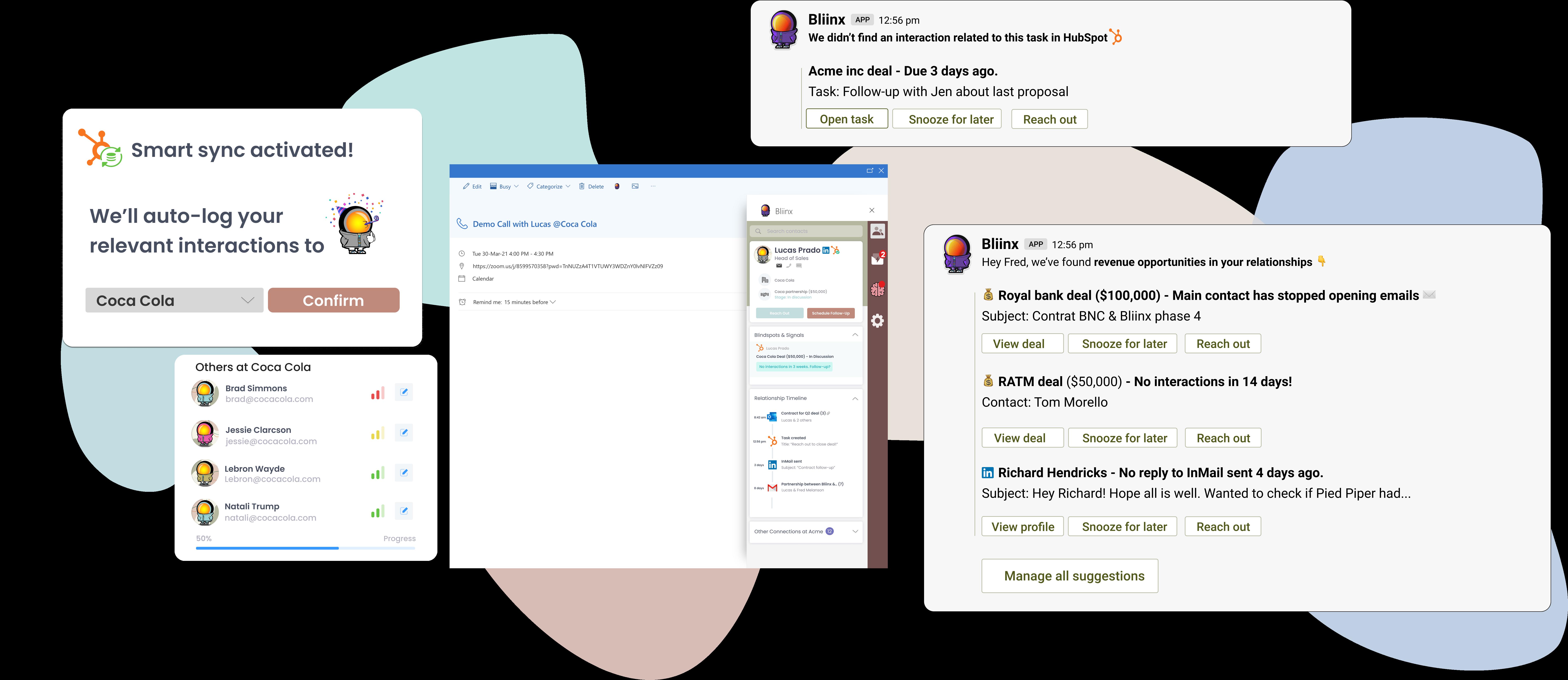 Bliinx for Hubspot product visuals