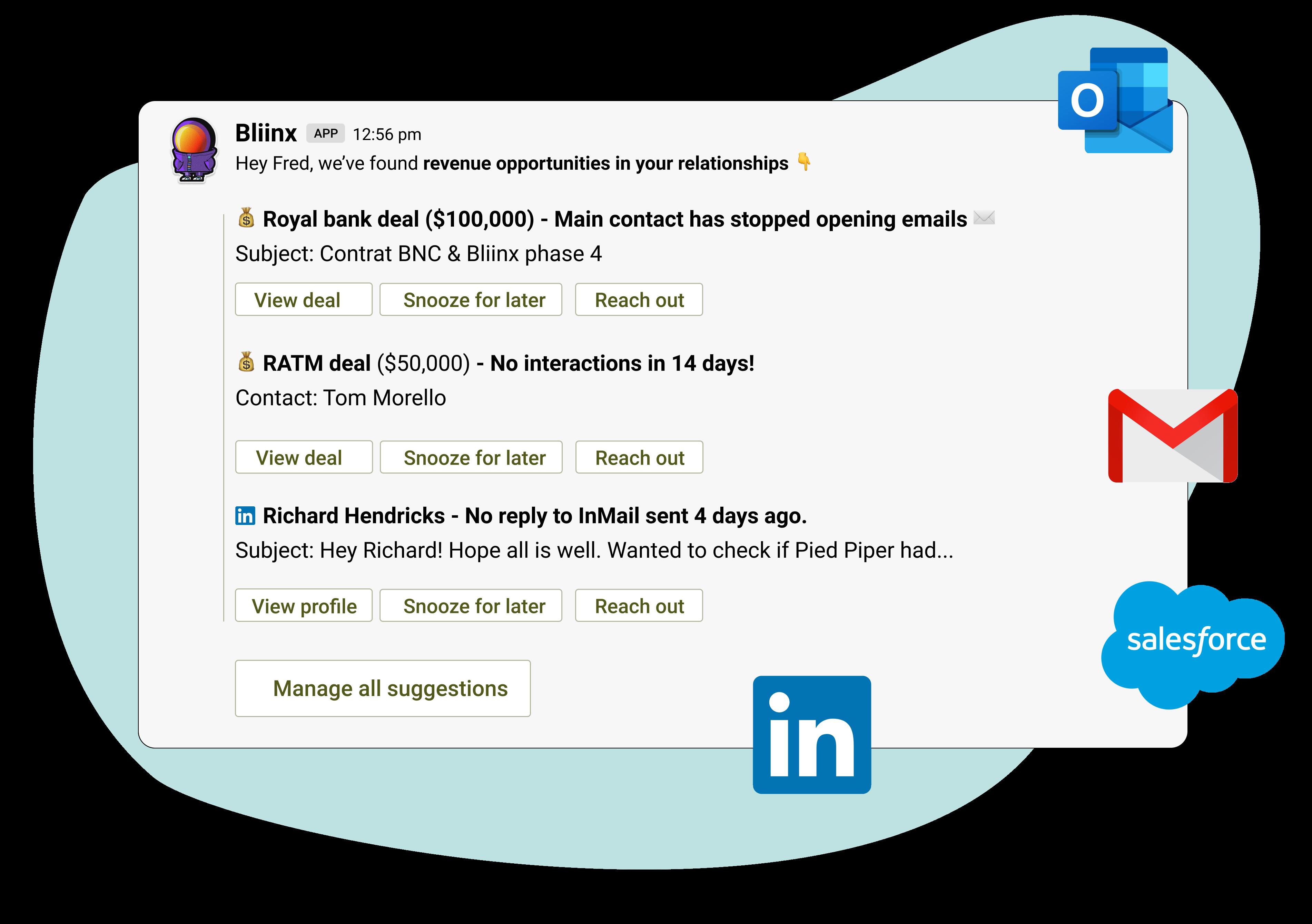 Blindspot notification in Slack with Salesforce