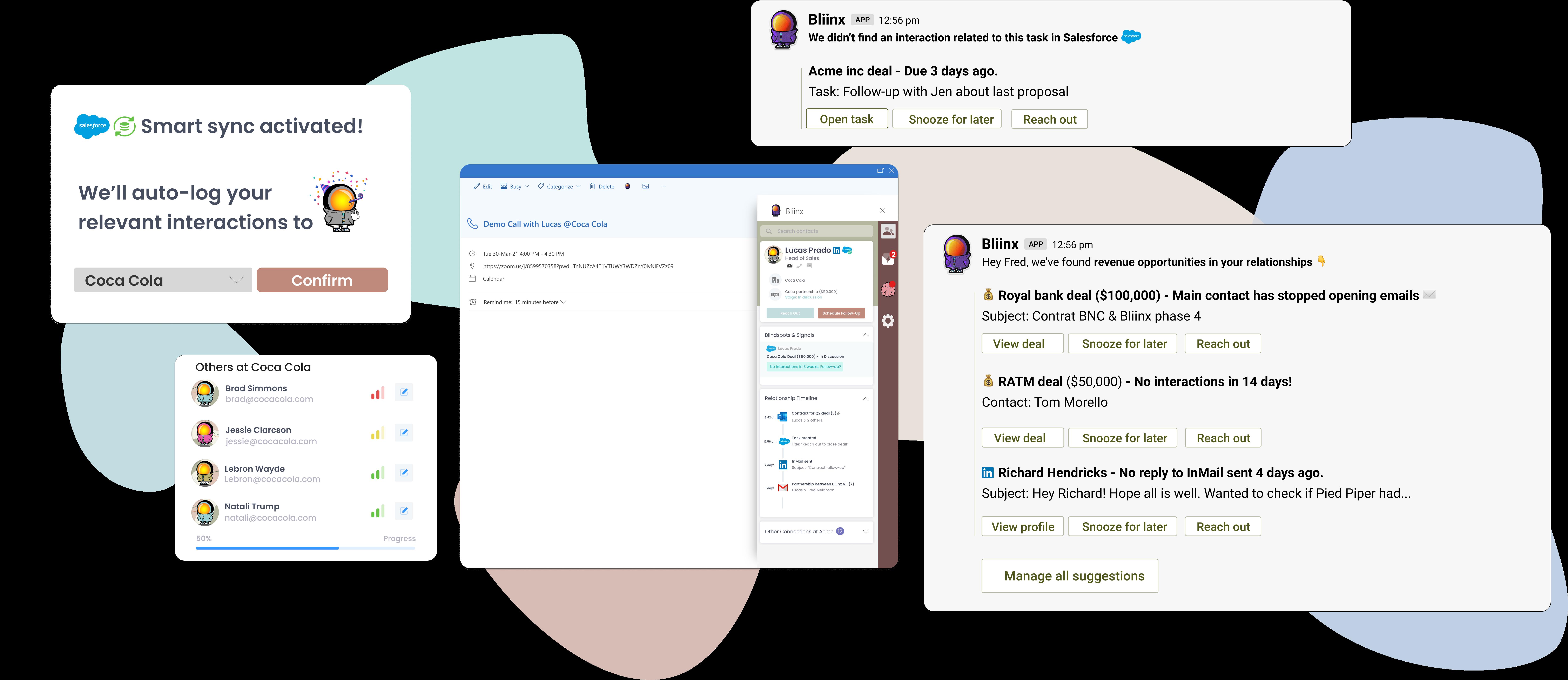 Bliinx for Salesforce product visuals